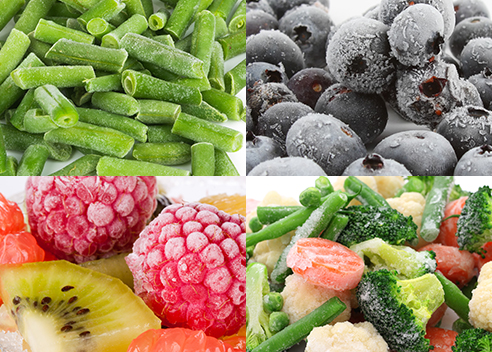 most healthy fruits and vegetables frozen fruit